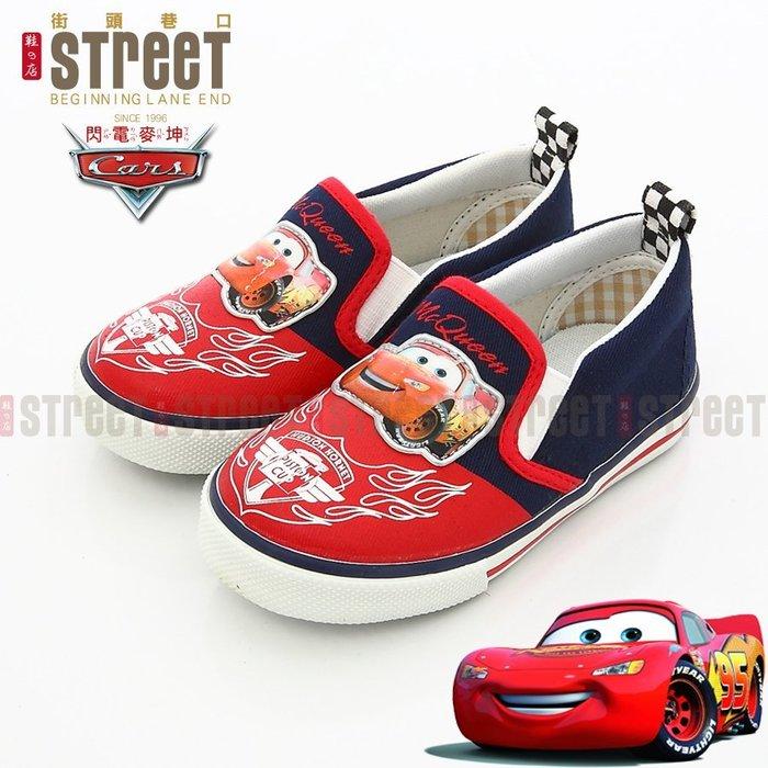 【街頭巷口 Street】閃電麥坤CARS童鞋 帥氣賽車格紋 休閒帆布鞋 KR553642BE 藍色