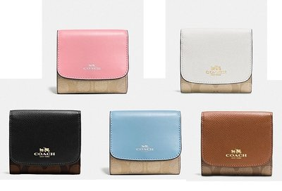 COACH 53837 SMALL WALLET IN SIGNATURE 短夾