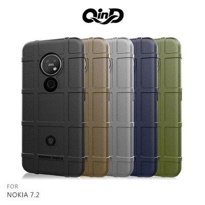 【愛瘋潮】QinD NOKIA 7.2 戰術護盾保護套 背蓋 TPU套 手機殼 保護殼 鏡頭保護
