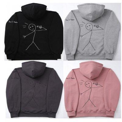 【艾利洋行】( COMPAGNO )  Lettering Tattoo hood 連帽T恤 帽T