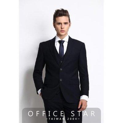 【90098】職業男女OFFICE ☆ STAR 高質感雙扣經典西裝外套 黑色