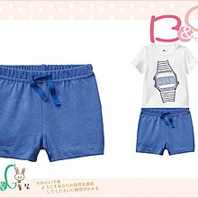 【B& G童裝】正品美國進口GAP Jersey shorts 藍色棉質短褲6-12mos