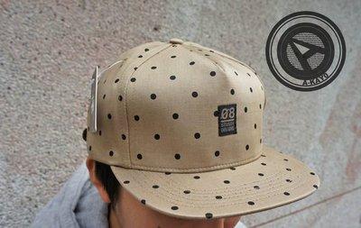 【促銷商品】STUSSY POLKA DOT CAMP CAP 棒球帽 卡其【431001TN】