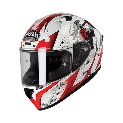 瀧澤部品 義大利 AIROH VALOR 系列 JACKPOT 白紅 全罩安全帽 彩繪 通勤 機車重機 透氣舒適 輕量