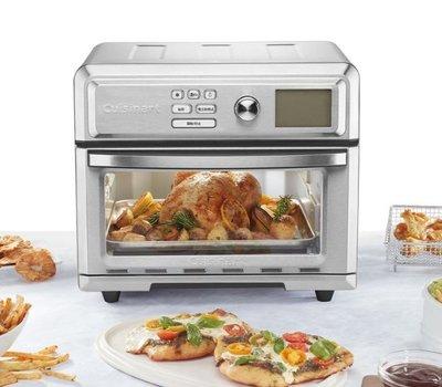 Look小舖  COSTCO好市多代購 Cuisinart 數位式氣炸烤箱 (TOA-65TW) 附烤架/烤盤/氣炸籃