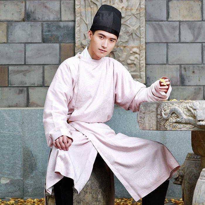 傳統漢服男女cp情侶裝定制連珠紋唐制圓領袍日常漢服春
