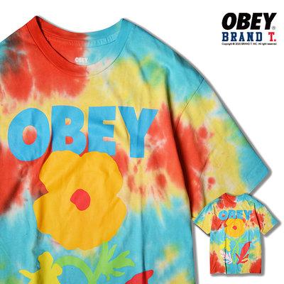 【Brand T】OBEY NO FUTURE FOR APATHY 渲染花 LOGO 造型 短T 短袖