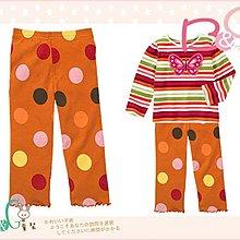【B& G童裝】正品美國進口GYMBOREE圓點圖樣橘色內搭長褲3,5yrs