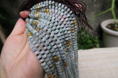 518中國結綁繩.扣頭專賣--雙彩算盤珠綁繩(5mm)--N32  緬甸玉 a貨翡翠玉墜 掛件綁繩
