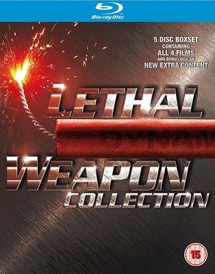 毛毛小舖--藍光BD 致命武器1~4集 Lethal Weapon 藍光精裝五碟套裝版(中文字幕)梅爾吉勃遜