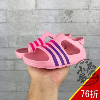 小鬼嚴選 ADIDAS ADILETTE PLAY I 小童 粉 紫logo 防水 涼鞋 CG6598 新北市