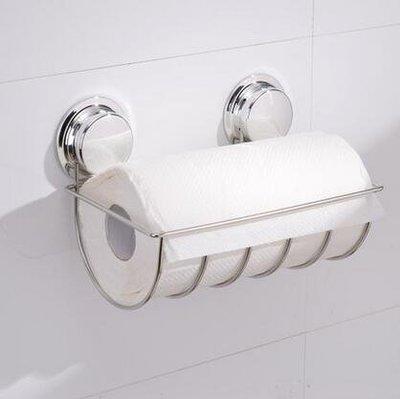 【優上】強力吸盤捲紙架 廚房用紙架免打孔無痕捲紙架