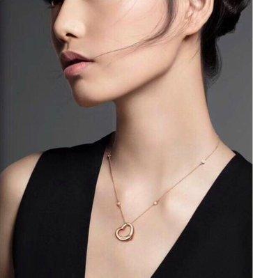 2018年新款Tiffany & Co.open heart心形項鍊