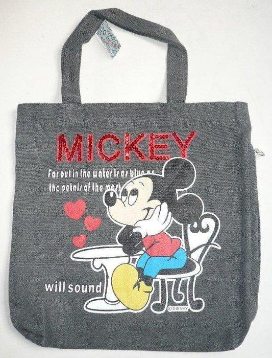 日本 迪士尼 米老鼠 米奇/米妮 環保購物袋~購物包~帆布包~手提袋 側肩包.防水包