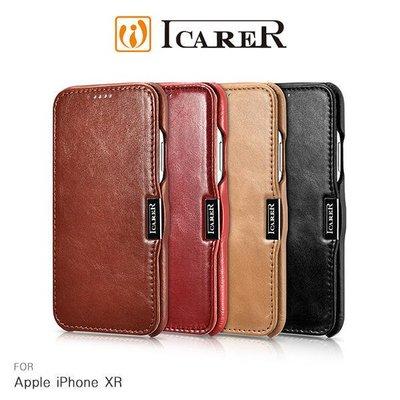 *phone寶*(預購款) ICARER Apple iPhone XR 復古磁扣真皮皮套 保護套