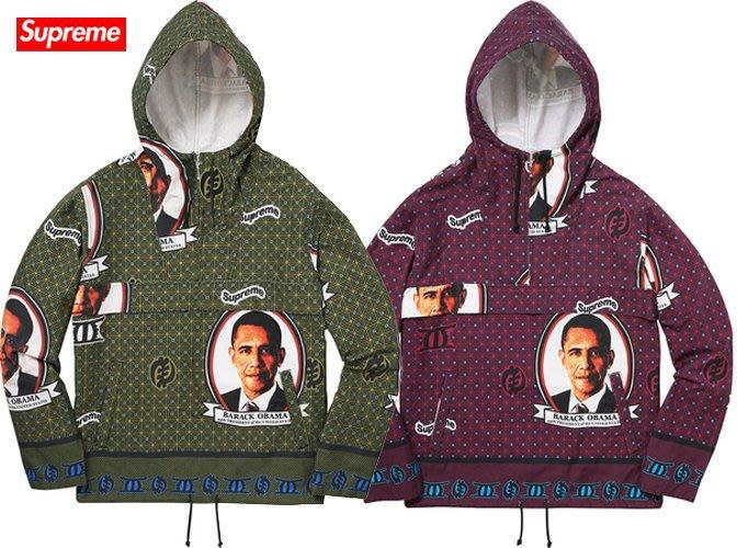 【超搶手】全新正品 2017 Supreme Obama Anorak  歐巴馬 風衣 外套 連帽外套 綠S紅S