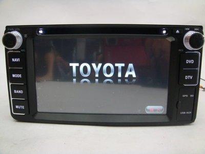 震撼立~TOYOTA WISH VIOS RAV4原廠五合一影音主機 內建HD數位電視 導航