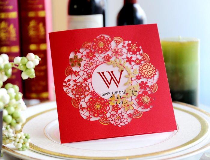 『潘朵菈精緻婚卡』影像設計喜帖♥簍空雕刻15元喜帖系列 ♥喜帖編號:CW-5522