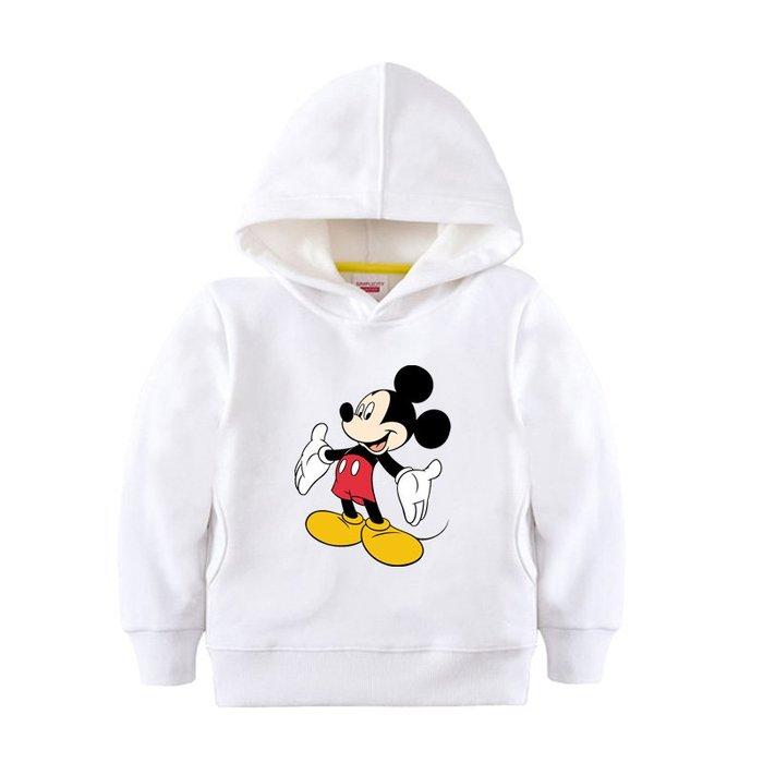 【童裝】韓版米老鼠衣服 米奇百搭衛衣兒童童裝上衣男童外套女童冬裝班服白色帽衫