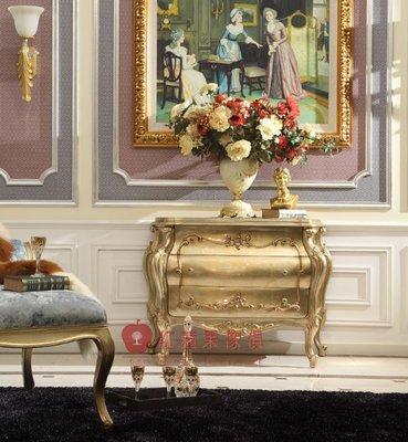 [紅蘋果傢俱] GT-016 宮廷‧凡爾賽系列 歐式 三斗櫃 新古典 地櫃 收納櫃 高檔 法式 奢華