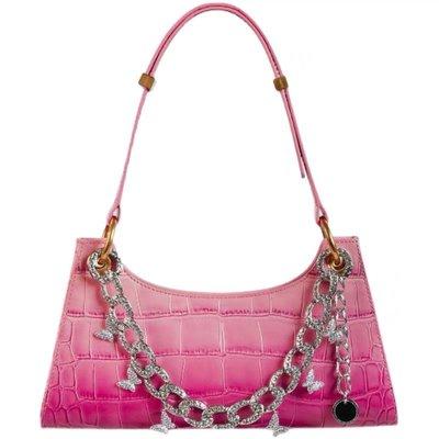 包包背帶國內現貨 代購正品apede mod腋下包珍珠蝴蝶鏈水鉆粉桃心鏈條配件