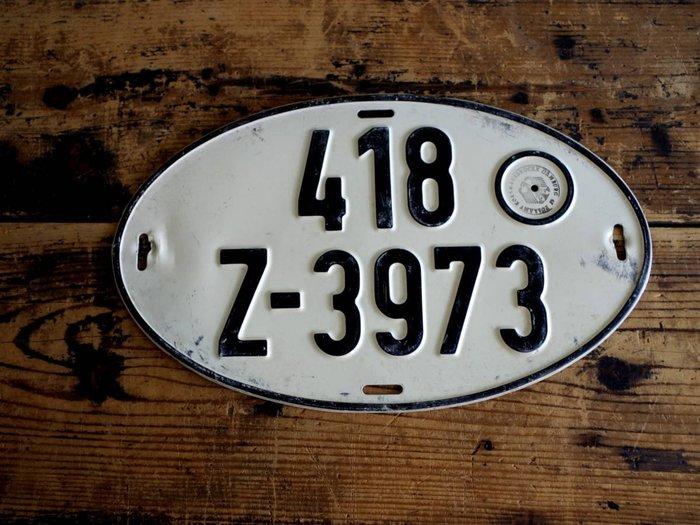 中古正品 德國汽車大牌 歐盟車牌( 鋁牌) 1980年代 出口車輛專用牌照 418
