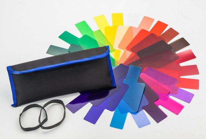 呈現攝影-SAMARK 閃光燈濾色片20色套組 通用型濾色片 色溫片錄影 攝影 600EX SB910 似LF-4007