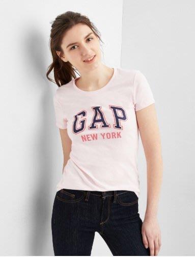 GAP 短袖T恤 女生 NEW YORK城市LOGO 粉色 美國甜心屋