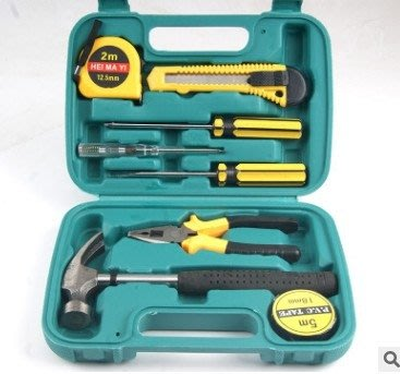 家用五金工具組合九件套家庭禮盒組套9件工具箱