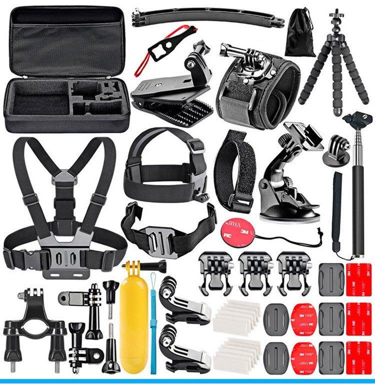 ~向上3C~ Gopro hero 8 7 6 5 4 3+運動相機 50合1組合配件套裝 相容SJCAM SJ4000