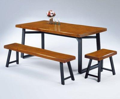 實木美式LOFT餐桌簡約現代餐廳桌子原木咖啡桌奶茶桌(一桌四椅)