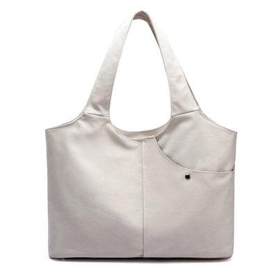 手提包帆布肩背包-純色簡約實用休閒女包包4色73wa13[獨家進口][米蘭精品]