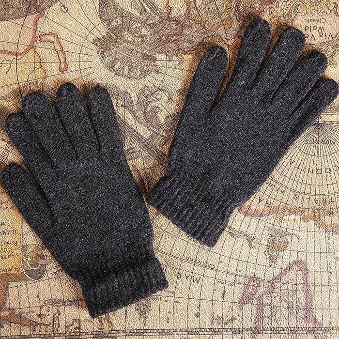 卡羅の鋪 百搭潮新款 秋冬潮新款 毛線手套 潮男 毛線手套 黑色 男款全指手套PSSKL688