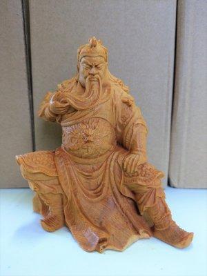 (現貨)崖柏扶鬚關公 關聖帝君 武財神關公 神像木雕擺件