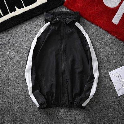 新款防曬衣男超薄透氣連帽休閒男士夾克百搭款青少年夏季外套YWZJ656