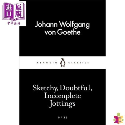 [文閲原版]LBS1:Sketchy, Doubtful, Incomplete Jottings 英文原版 小黑書合集