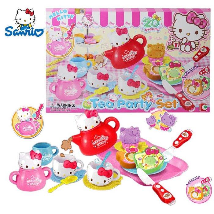 【W先生】Hello Kitty 凱蒂貓 點心派對 女孩 家家酒 玩具