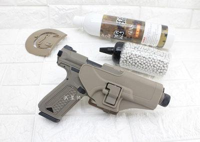 台南 武星級 Action Army AAP-01 瓦斯槍 沙 + 12KG 威猛瓦斯 + 0.2g BB彈 + 槍套