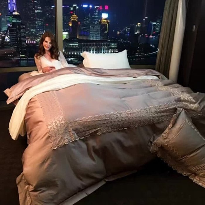 諠諠小舖~美式高檔80支埃及長絨棉四件套  奢華床上用品