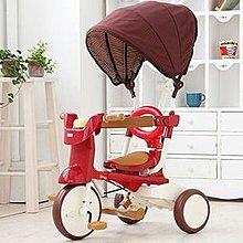 【魔法世界】【日本iimo】【遮陽款】日本iimo #02兒童三輪車(折疊款-紅色)【保證公司貨】