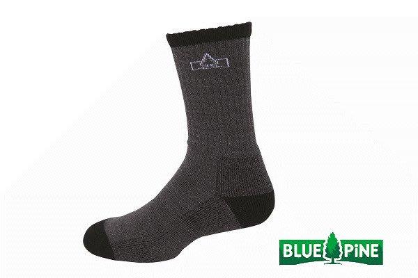 (登山屋) BLUE PINE 美麗諾羊毛襪 型號:B61720 深灰