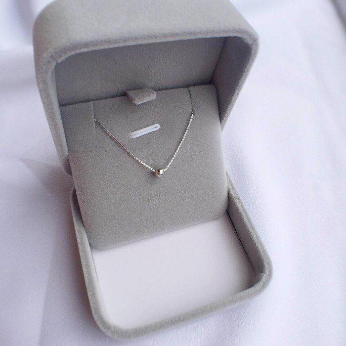 乾一S925純銀項鏈女鎖骨鏈短款chic頸鏈鎖骨個性簡約小銀豆choker頸帶