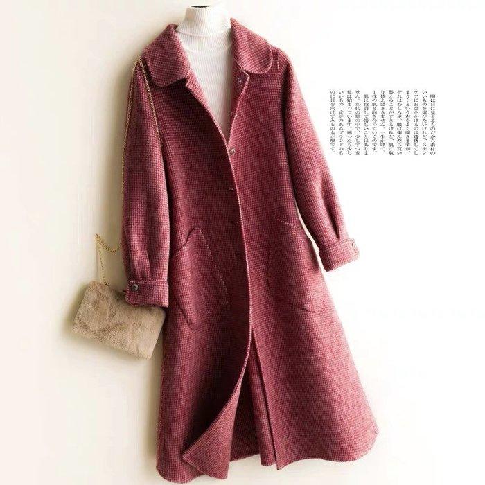 *Angel  Dance*雙面絨100%純羊毛外套(4色)@日單 高端 千鳥格 山羊絨 挺括保暖 大衣@現貨+ 預購