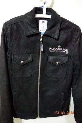 【Chen Shop】稀有美品 Adidas Kazuki kzk Neighborhood obyo Leather Jacket 豚皮外套