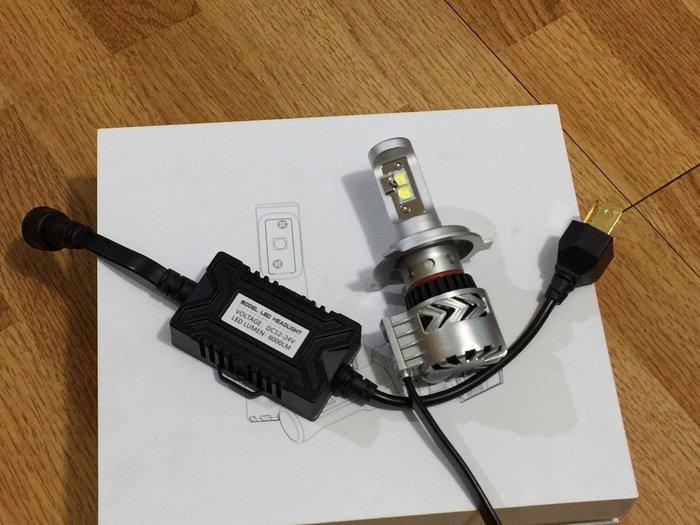 【炬霸科技】福燦 12V 24V 36W H4 LED 大燈 燈泡 燈管 6500K 6000LM 6000 流明 勁戰