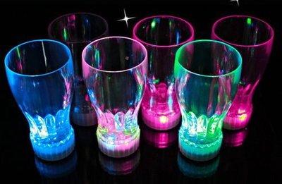 酒吧必備 啤酒杯 七彩閃光杯 飲料杯 發光啤酒杯 發光可樂杯(大) (無附盒)