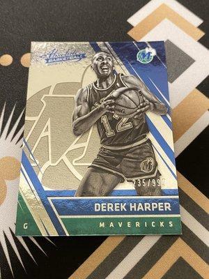 Derek Harper 16/17 Absolute #134 Retired #'d 235/999