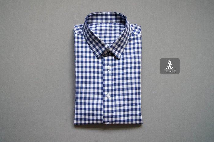 SIMPLE IMAGE(手工製作)大格紋藍色襯衫a689