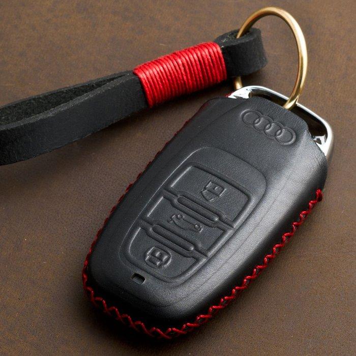 專用于奧迪新q5\a6L\a4L\q3汽車鑰匙包套真皮A3\a5\Q7鑰匙殼