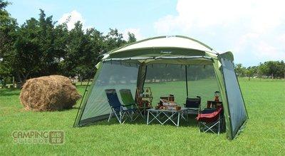 【山野賣客】野樂 Camping Ace 大巨蛋客廳帳 網屋 ARC-640-1 無接縫高密度紗網 帳篷 抗風穩定